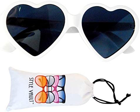 Kd3141 BABY Infant Toddlers Age 0 36 months Heart Sunglasses unisex White uv400 product image