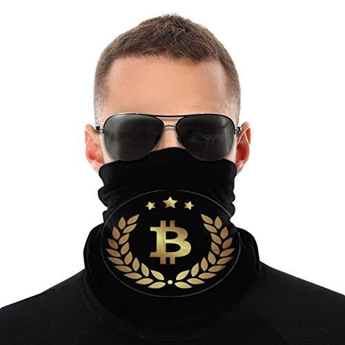 Bitcoin Round Logo Bufanda cálida para hombres y mujeres adultos Pasamontañas para hombres ligeros 20 * 10 Pulgadas