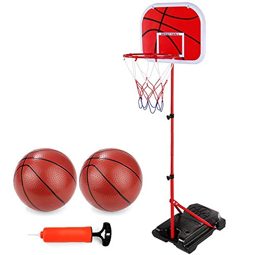 URVP Portable Basketball Goal Hoop for Kids Adjustable Indoor Outdoor Kids Youth Basketball Goal Game Play Set Toddlers Boys Girls Children Indoors Outdoors Toys Best Gift for Baby Infant Toddler