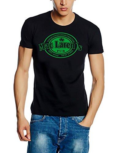 Coole-Fun-T-Shirts T-Shirt Mac Laren Irish Pub HIMYM, schwarz-green, XXL, 10712_Schwarz-green_GR.XXL
