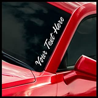 Custom Window Sticker - Your Text Here - Select Your Font & Color