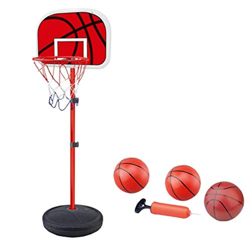 YuanDian Kinder Basketballkorb Portable Verstellbarer Basketballbrett 110-175cm Basketballständer Drinnen Outdoor Garten Freistehend Mini Basketballkörbe Boards Basketballanlage Set 175cm 3 Balls