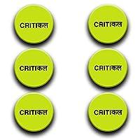 Anuman007 Funny Badges Button Badges -(1.5X1.5) Set of 6