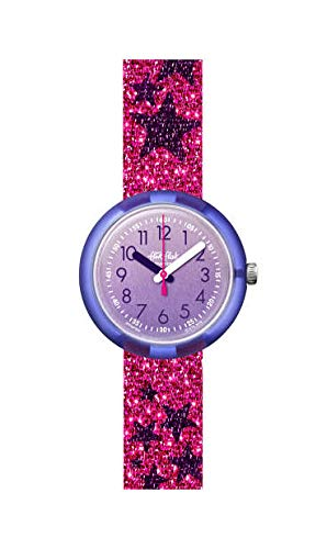 Flik Flak Mädchen Analog Quarz Uhr mit Kunststoff Armband FPNP054