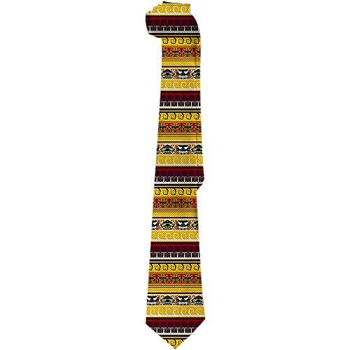 Cravatta da cerimonia formale da uomo in cravatta di seta intrecciata jacquard con motivo jacquard tradizionale etnico