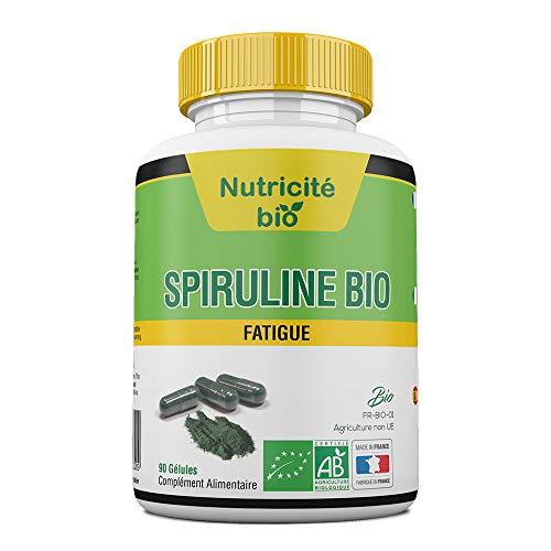 Espirulina orgánica 90 Cápsulas de Nutricite-Bio - 400mg - Espirulina bio para estimular la energia y reducir la fatiga