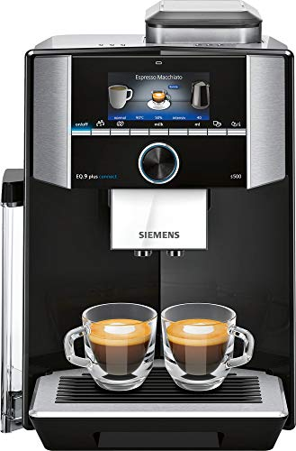 Siemens EQ.9 TI9555X9DE cafetera eléctrica Máquina Espresso 2,3 L Totalmente automática EQ.9 TI9555X9DE, Máquina Espresso, 2,3 L, Granos de café, De café molido, Molinillo Integrado,