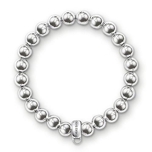 Thomas Sabo Damen-Charm-Armband Charm Club 925 Sterling Silber Länge 17.5 cm X0186-001-12-L