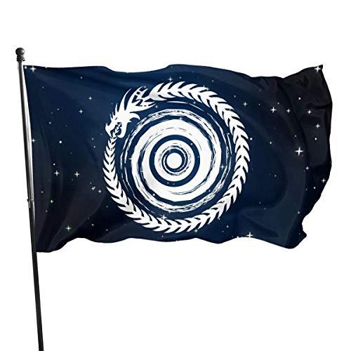 BHGYT Serpente Simbolo della Famiglia Ouroboros Giardino Decor Semitrasparente Home Flag Decorazione della Parete 35in59in