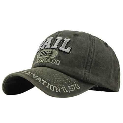 Sombrero de Moda de algodón Bordado Carta Gorra de béisbol Hombres y Mujeres Visera Gorra Ajustables por Yesmile