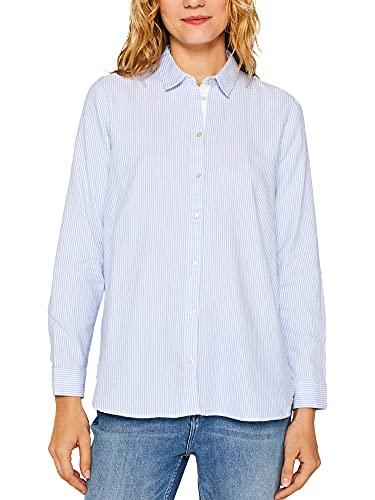 ESPRIT Women's 999ee1f808s Blouse, White (White 100), 18 (Size: 44)