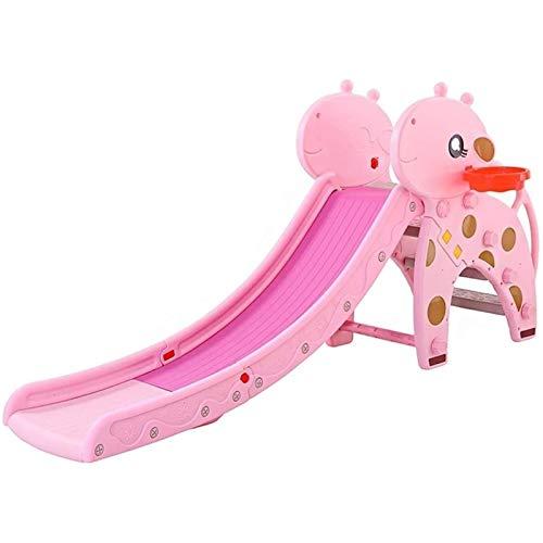 Adesign Niños Diapositiva al Aire Libre de jardín de plástico Juguetes for niños Zona de Juegos Cubierta Plegable Juego de Diapositivas Combinación de Juguete de plástico