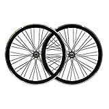 LSRRYD 700C Engranaje Fijo De Volante Muerto Rueda De Bici 13 Dientes De Una Velocidad Freno De V Llanta 32/36H para Bicicleta Infantil BMX 2560G (Color : Black)