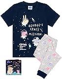 Peppa Pig George Pijamas Boys Girls Space T Shirt Pantalones PJS con Libro de CU 2-3 años