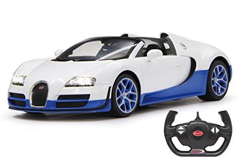 Jamara 404547 2,4 GHz Échelle 1 : 14 Blanc Bugatti Veyron Grand Sport Vitesse Voiture de