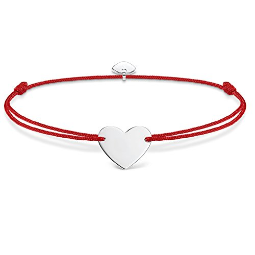 THOMAS SABO Damen Armband Little Secret Herz Herz Little Secret 925er Sterlingsilber, Nylon LS006-173-10