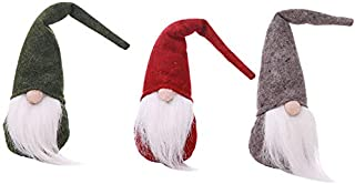 Grace Store Holiday Gnome Handmade Swedish Tomte Christmas Santa Decorations,Home Ornaments Festival Decor Xmas Gifts 3 Sets Gnomes 12""