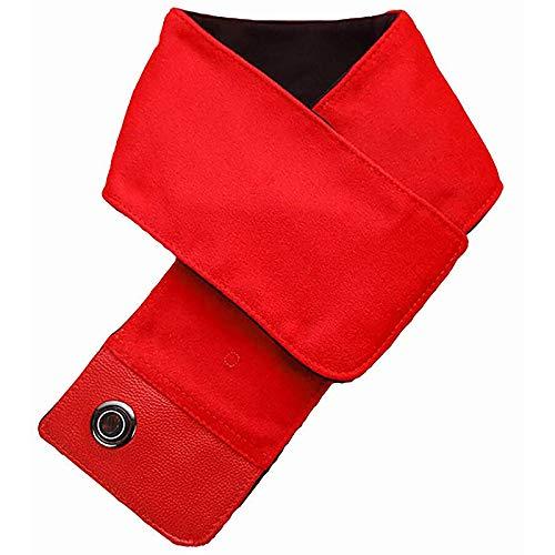 LH&BD Riscaldamento Sciarpa Inverno Sciarpa riscaldata Collo riscaldante con Collo riscaldato Involucro Lavabile-Lavoro con 3 impostazioni di Temperatura,Rosso