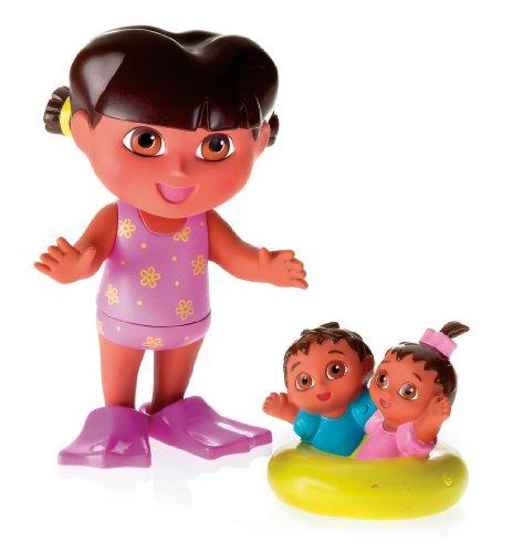Ficher Price - Jeux pour le Bain - Dora et les jumaux dans le bain