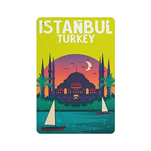 Istanbul TURCHIA Cartello in metallo Bar Decorazione Della Parete Vintage Metal Segni Casa Pittura Targhe Art Poster