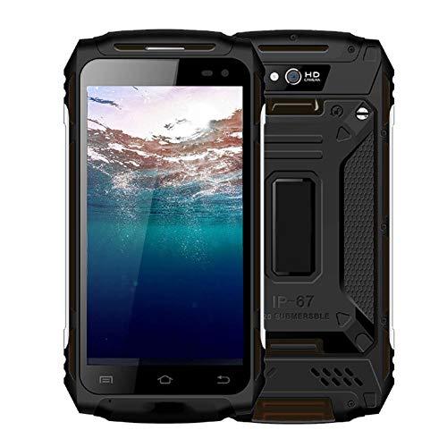 Yunir Teléfono Inteligente Resistente, 2 GB de RAM 16 GB ROM Militar al Aire Libre 3 Pruebas 5.0 Pulgadas Pantalla IPS Teléfono móvil para Android 6.0, batería de 5500 mAh, SIM Dual(Enchufe de la UE)