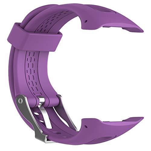 S / L 8 Colori Di Silicone Sport Bracciale Cinghia Della Fascia For Garmin Forerunner 10 15 GPS Sport Del Polso Del Cinturino Di Ricambio Con Lo Strumento Adjustable ( Color : Purple , Size : 22cm )