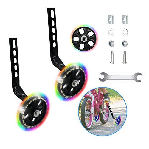 Happylohas ruedines Bicicleta Infantil, Entrenamiento ruedines niños con luz LED, Ruedas estabilizadoras,...