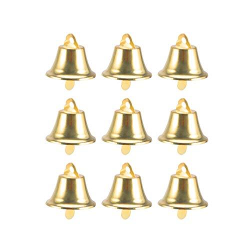 STOBOK 35pcs Campanas artesanales cascabeles Mini campanillas Campanas de Viento Dorado Campanas Navidad DIY Craft 30mm