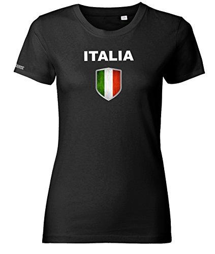 Jayess WM 2018 - Italia Wappen - Italien - Schwarz - Women T-Shirt by Gr. L