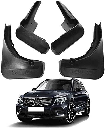 Coche Guardabarros Delanteros y Traseros Aletas Barro Mud Guardia Flap Reemplazo para Mercedes Benz GLC 43 63 AMG (with Pedal) 2016-2019 Faldillas Antibarro Fender Splash Guard Proteccion Juego