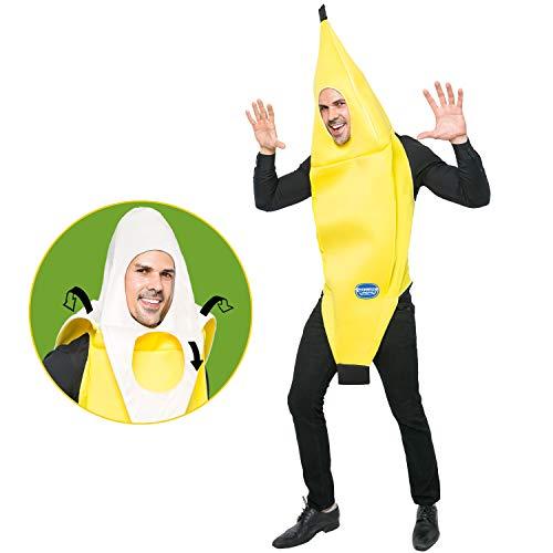 Spooktacular Creations Unisex Bananen Kostüm Erwachsene Attraktiv Deluxe Set für Halloween Karnevalskostüme Dress Up Party Verkleidung und Rollenspiel Cosplay (Standard)