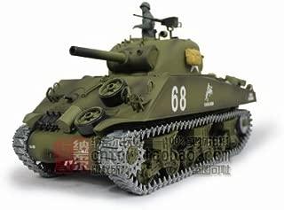 1/16 US M4A3 Sherman Tank (105mm Howitzer) Air Soft RC Battle Tank Smoke & Sound (Upgrade Version w/ Metal Gear & Tracks)