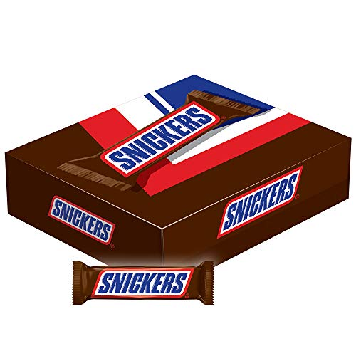 Snickers Singles Size Chocolate Candy Bars 1.86-Ounce Bar 48-Count Box by Mars Snackfoods