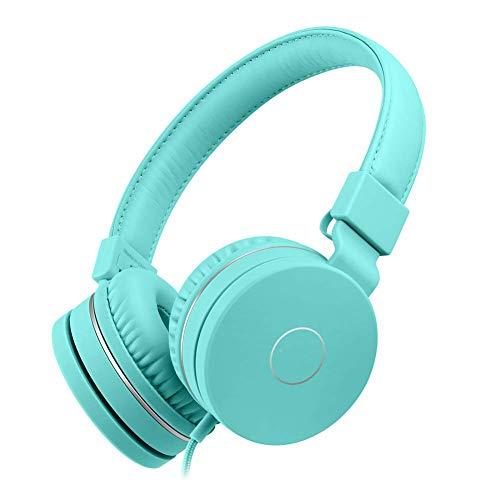 WPLHH Handy-Headset, kabellos, Sport, wasserdicht, Rauschunterdrückung, starker Bass, faltbar, Surround-Soundkarte, steckbar, Gaming-Headset (Farbe: Grün)