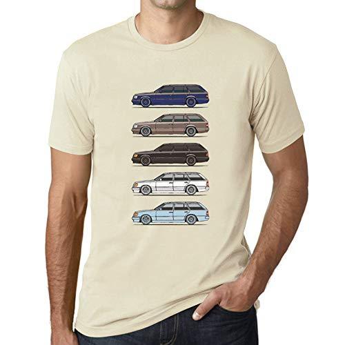 Ultrabasic - Wagen Classic W124 S124 Klasse Auto T-Shirt Eierschale