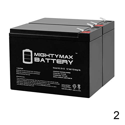 12V 10Ah New Battery for EZIP Scooter 4.0, 400, 450, 500-2 Pack