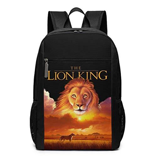 Hdadwy Funny Fashion Unisex Art The Lion King Print Print Knapsacks Black