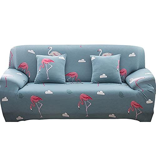 ASCV Fundas de sofá Fundas de sofá en Forma de L Fundas de sofá para Sala de Estar Funda de sofá seccional de Licra A1 2 plazas
