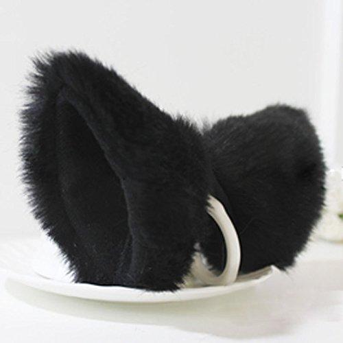 ECMQS, orecchie da gatto con fermagli, adatte per Natale e per Carnevale, da donna