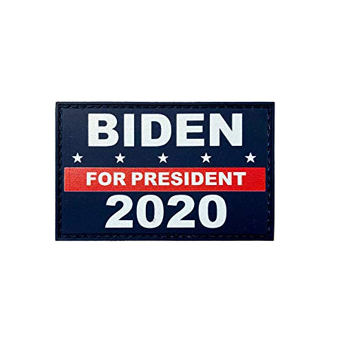 JAVD HSQCEZ American 2020 President Biden Flag Patch with Velcro,President Biden Flags Tactical PVC Hook Patch,Tactical Patch Pride Flag Velcro Patch for Clothes Hat Patch Team Military Patch
