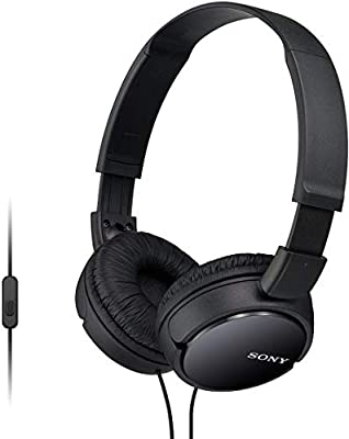 Sony MDR-ZX110AP Overhead Headphones with In-Line Control - Black from Sony