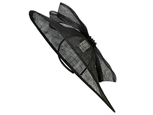LOEVENICH SHW-200SC Damen Fascinator Haarschmuck aus Stroh - Schwarz (schwarz) - One Size