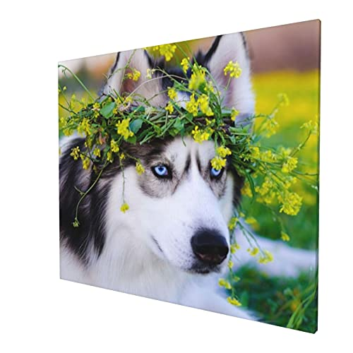 Perfumes siberianos mascotas césped lindo animales pintura pared arte sin marco pinturas decorativas decoración del hogar mural pintura sofá moderna 50 x 60 cm