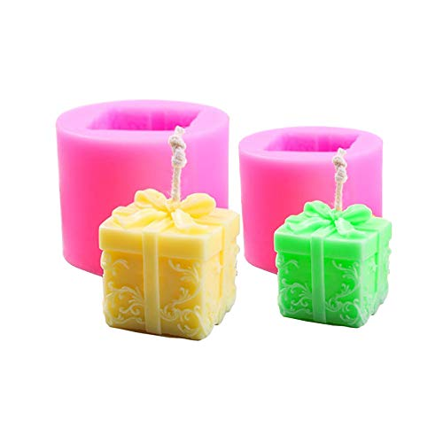 Guanici, stampi in silicone 3D per candele fai da te, per aromaterapia, per candele, fondente, caramelle, fai da te, fai da te, 2 pezzi