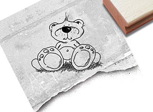 Stempel Kinderstempel Teddy Bär - Motivstempel Kita Kinderzimmer Schule Einschulung Basteln Deko Geschenk für Kinder Geburtstag - zAcheR-fineT