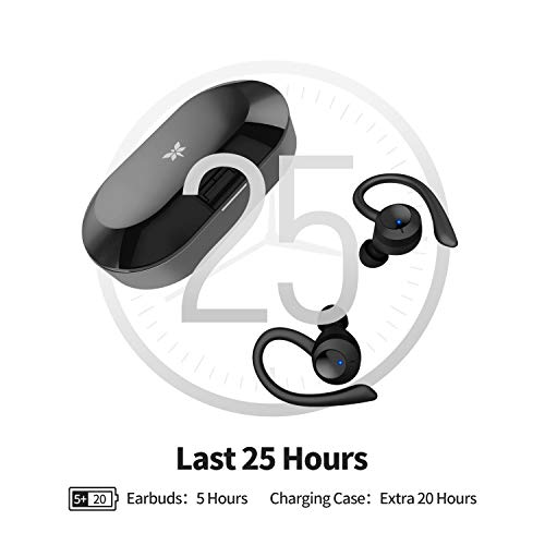 Axloie Sports Wireless Earbuds Bluetooth 5.0 Headphones True Wireless Deep Bass in-Ear Mini TWS Stereo IPX7 Waterproof 25H Playtime Wireless Earphones with Charging Case for Running Workout Gym iPhone