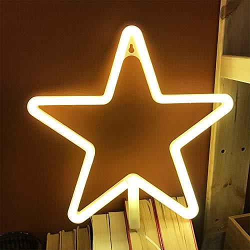 Zeichen LED Neon Stern Neon Lights Warm White Neon-Wand-Licht-Batterie oder USB Operated Nachtlicht-LED Licht-Wand-Dekoration für Hochzeitsfest-Wand-Dekor-Feiertags-Party Camping Kinderzimmer Wohnzim