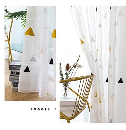 Cortina bordada blanca,Semitransparente cortina/estilo nórdico/sala de estar/Dormitorio/Balcón/Cortina transparente/1pcs