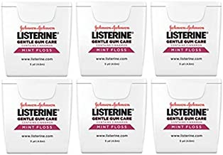Gentle Gum Care Floss, Cinnamon Mint, Small Travel Size 5 Yards (4.6m) - Pack of 6