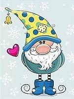 ダイヤモンドの絵画 ラインストーンの家の装飾の5Ddiyダイヤモンド刺繡漫画ダイヤモンド絵画雪フルスクエアモザイククリスマス画像